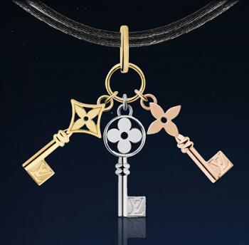 ルイ・ヴィトンの3つの鍵ペンダント